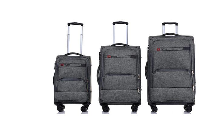 6 סט מזוודות בד SWISS