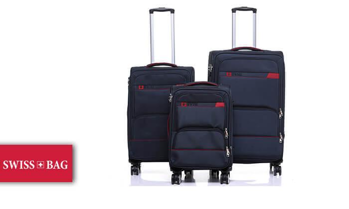 2 סט מזוודות בד SWISS