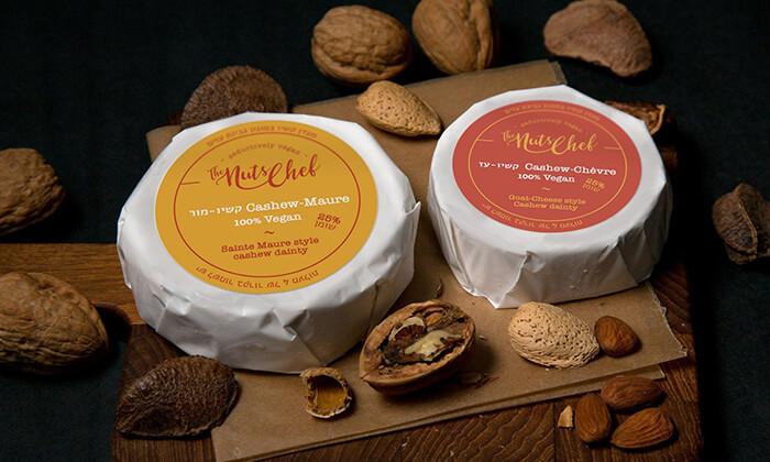 3 שובר הנחה לרכישת גבינות טבעוניות The Nuts Chef