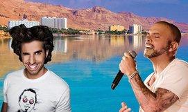 אייל גולן ואורי חזקיה בים המלח