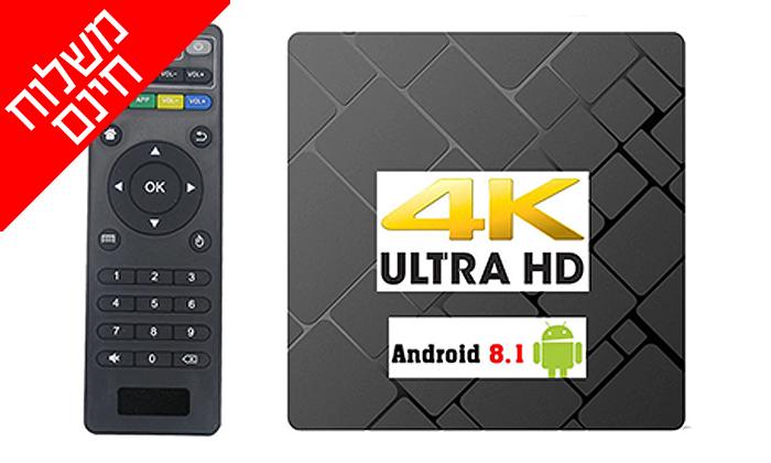 2 סטרימר ANDROID 8.1 TV BOX4K ULTRA - משלוח חינם!