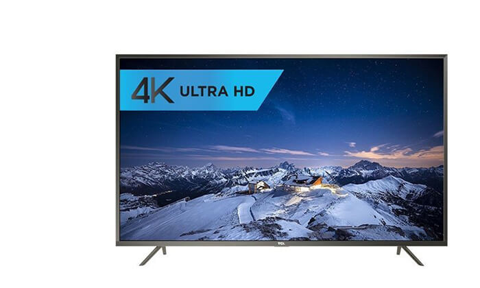 טלוויזיה חכמה TCL 4K, מסך 43 אינץ'