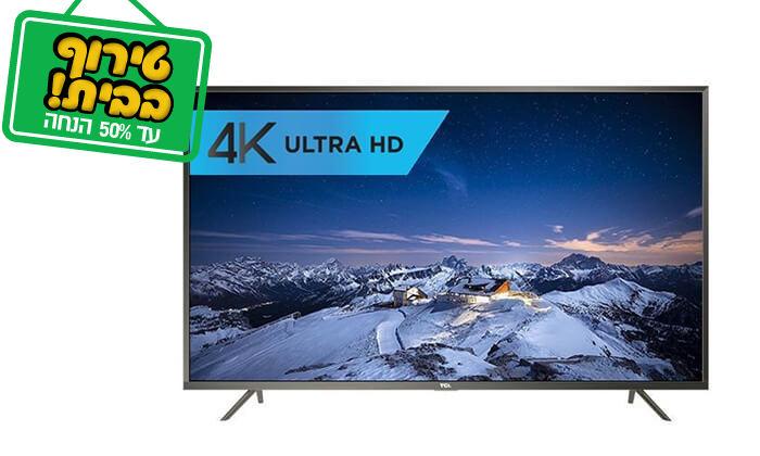 2 טלוויזיה חכמה TCL 4K, מסך 43 אינץ'