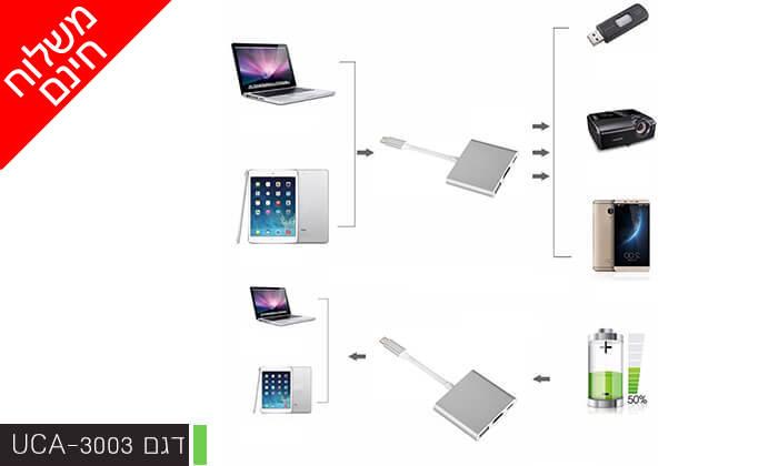 6 מתאמי USB TYPE-C 3.1 של LEXUS - משלוח חינם!