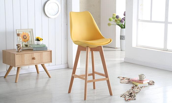 5 כיסא בר מרופד