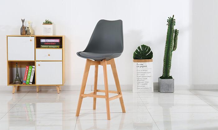 6 כיסא בר מרופד