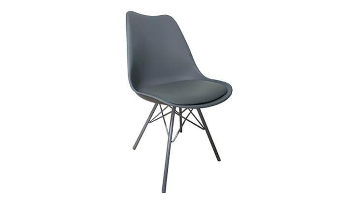 7 כיסא אוכל עם מושב מרופד