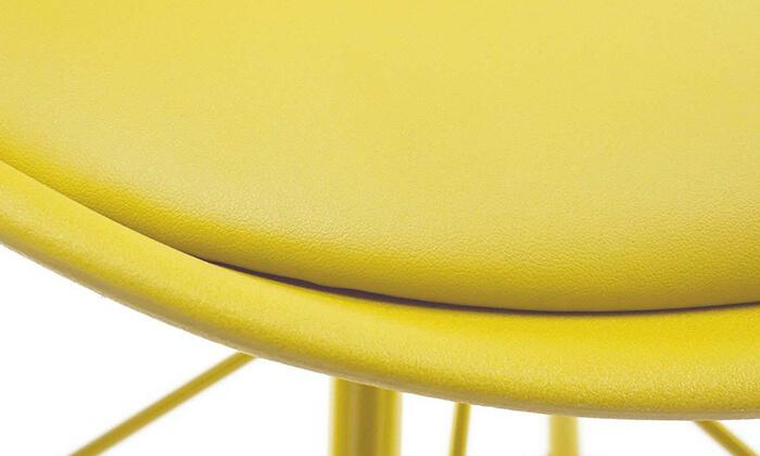 4 כיסא אוכל עם מושב מרופד