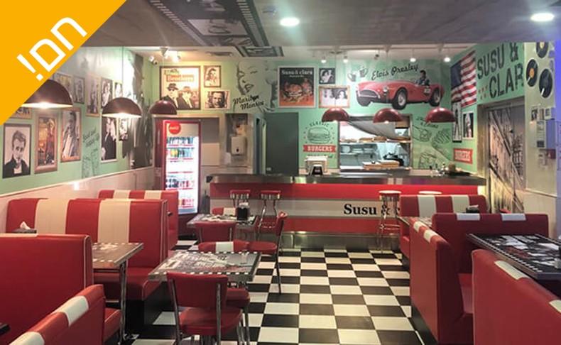 ארוחת המבורגר ב-Susu&Clara