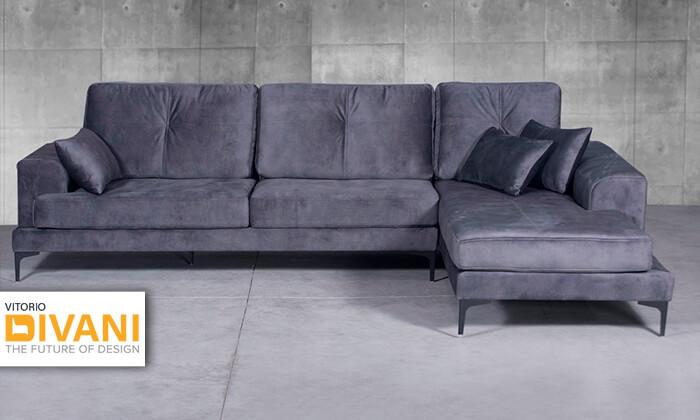 2 ספה תלת מושבית עם שזלונג Vitorio Divani