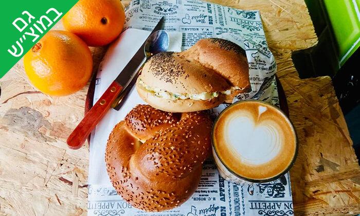 """4 כריך ושתייה בקפה סונדר, שוק הכרמל ת""""א"""