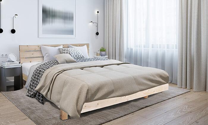 5 אולימפיה: מיטה מעץ מלא עם מזרן