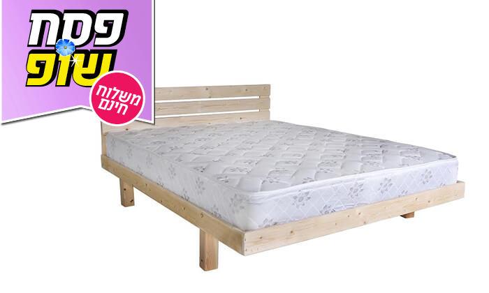 3 אולימפיה: מיטה מעץ מלא עם מזרן אורתופדי, הובלה והרכבה חינם!