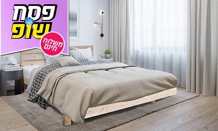5 אולימפיה: מיטה מעץ מלא עם מזרן אורתופדי, הובלה והרכבה חינם!