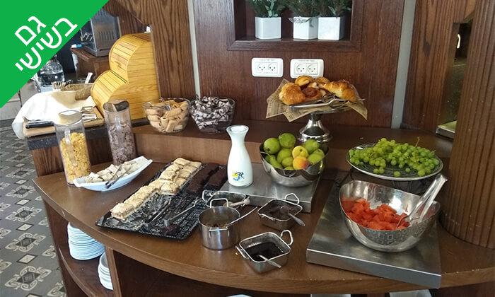 6 ארוחת בוקר בופה במלון הבוטיק קולוני, המושבה הגרמנית חיפה
