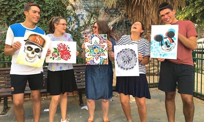 4 סדנת גרפיטי לכל הגילאים, שכונת פלורנטין תל אביב