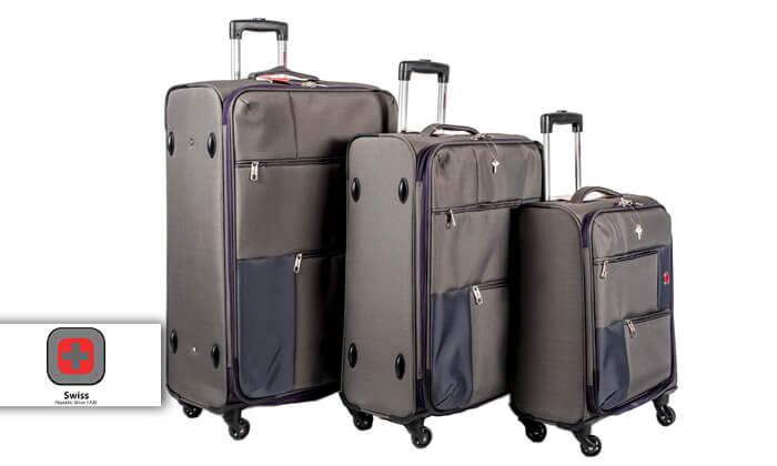 2 סט 3 או 4 מזוודות בד SWISS TRAVEL PREMIUM
