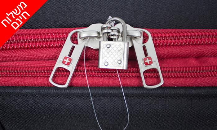 18 סט 3  מזוודות בד SWISS TRAVEL PREMIUM
