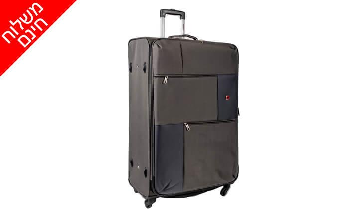 12 סט 3  מזוודות בד SWISS TRAVEL PREMIUM