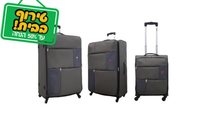 5 סט 3 או 4 מזוודות בד SWISS TRAVEL PREMIUM