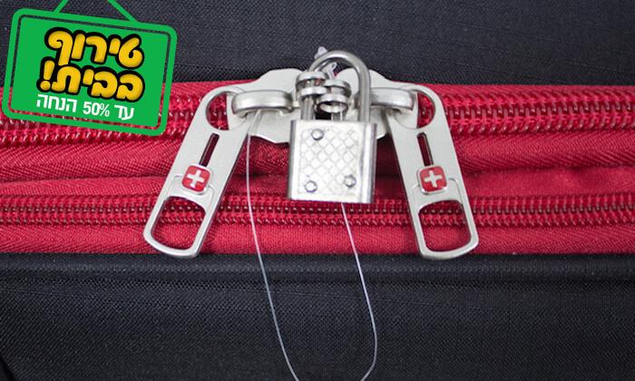 18 סט 3 או 4 מזוודות בד SWISS TRAVEL PREMIUM
