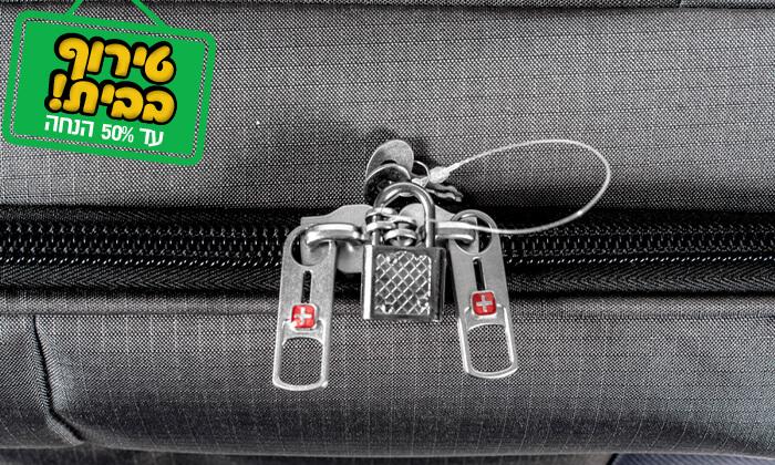 19 סט 3 או 4 מזוודות בד SWISS TRAVEL PREMIUM