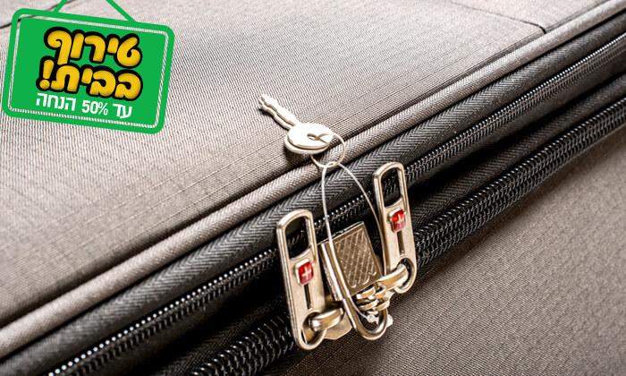 20 סט 3 או 4 מזוודות בד SWISS TRAVEL PREMIUM