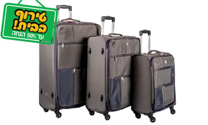 10 סט 3 או 4 מזוודות בד SWISS TRAVEL PREMIUM