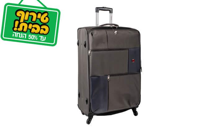 13 סט 3 או 4 מזוודות בד SWISS TRAVEL PREMIUM