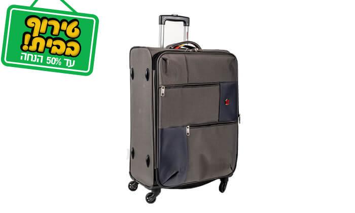 14 סט 3 או 4 מזוודות בד SWISS TRAVEL PREMIUM