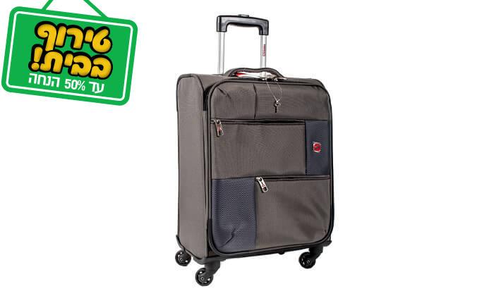 15 סט 3 או 4 מזוודות בד SWISS TRAVEL PREMIUM
