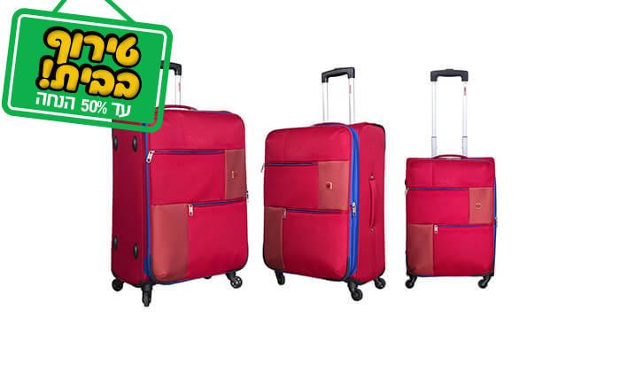 4 סט 3 או 4 מזוודות בד SWISS TRAVEL PREMIUM