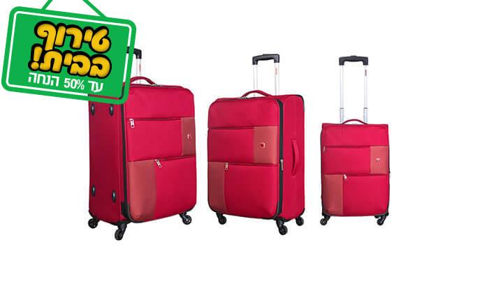 6 סט 3 או 4 מזוודות בד SWISS TRAVEL PREMIUM