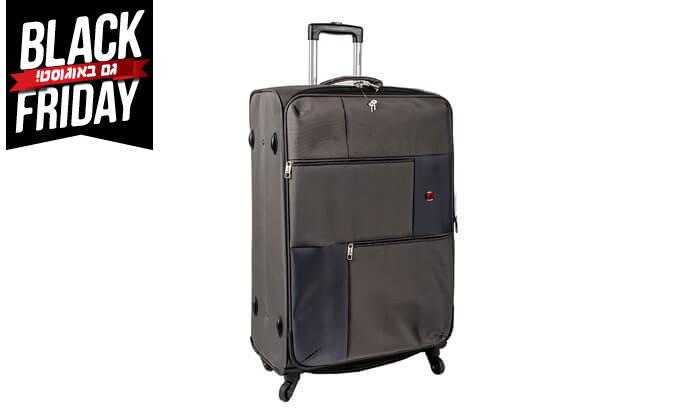 13 סט 3  מזוודות בד SWISS TRAVEL PREMIUM