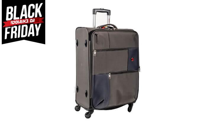 14 סט 3  מזוודות בד SWISS TRAVEL PREMIUM