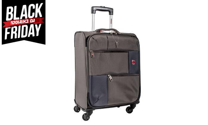 15 סט 3  מזוודות בד SWISS TRAVEL PREMIUM
