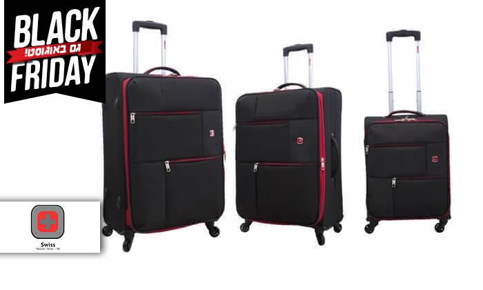 2 סט 3  מזוודות בד SWISS TRAVEL PREMIUM
