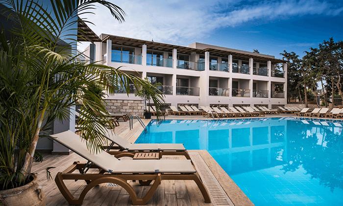 4 הכול כלול בכרתים למשפחות - מלון עם פארק מים, כולל סופ''ש ויום העצמאות