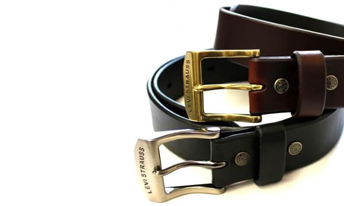 8  חגורת עור LEVI'S ליוויס לגברים