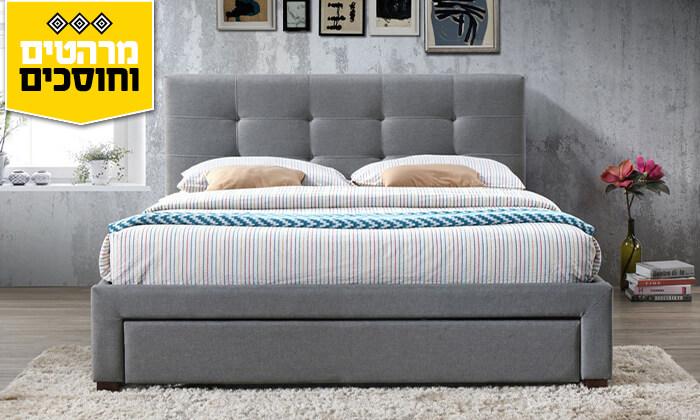 3 מיטה זוגית מרופדת הום דקור HOME DECOR
