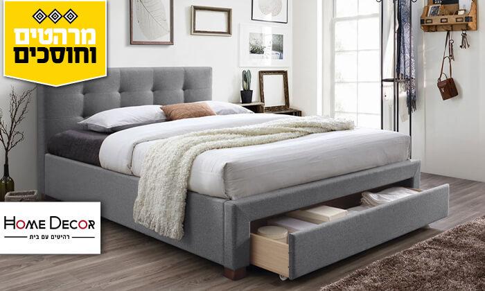 2 מיטה זוגית מרופדת הום דקור HOME DECOR