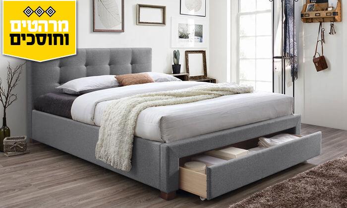 4 מיטה זוגית מרופדת הום דקור HOME DECOR
