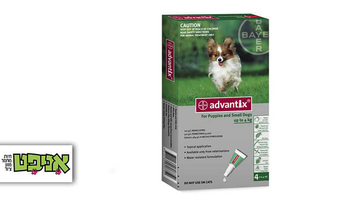 2 אדוונטיקס Advantix - אמפולות נגד פרעושים וקרציות לכלבים