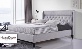 מיטה זוגית מרופדת HOME DECOR