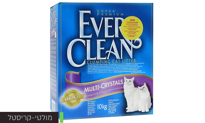 6 מארז קופסאות חול מתגבש לחתולים EVER CLEAN