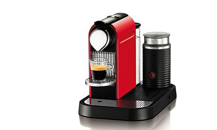 3 מכונת קפה נספרסו Nespresso כולל 14 קפסולות