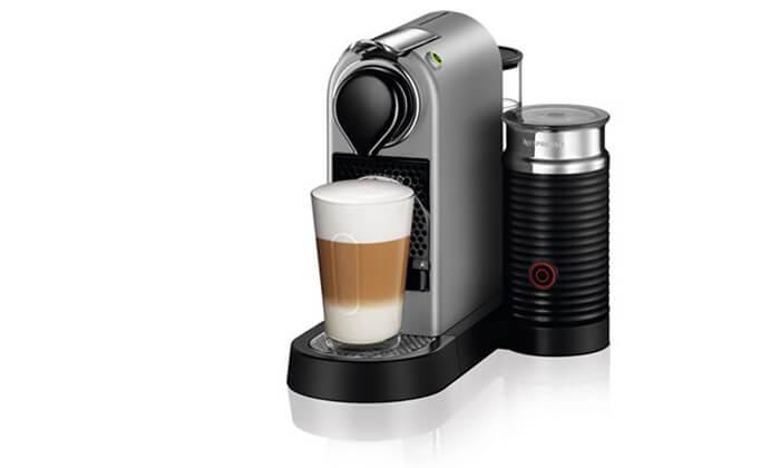 5 מכונת קפה נספרסו Nespresso כולל 14 קפסולות
