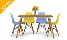 שולחן ו-4 כסאות לפינת אוכל