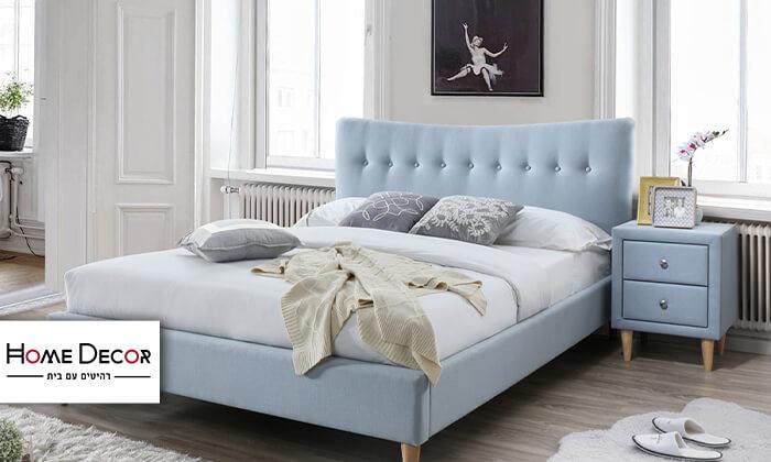2 מיטה זוגית מרופדת ושידה הום דקור HOME DECOR