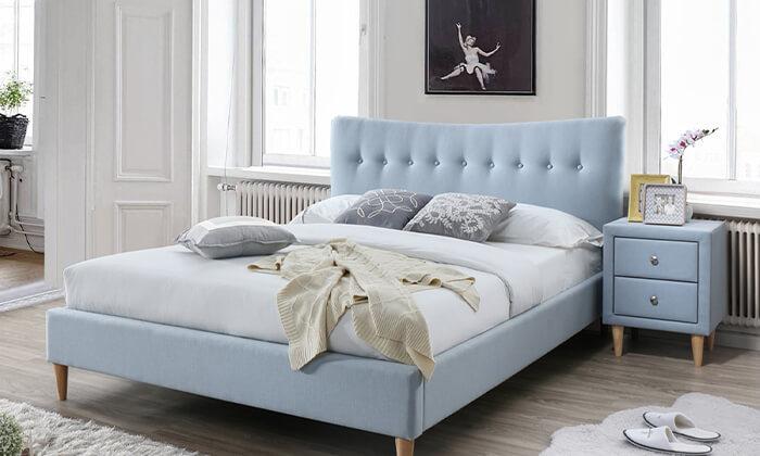 3 מיטה זוגית מרופדת ושידה הום דקור HOME DECOR
